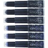 Cross Fountain Pen Cartridge Ink Refills, Blue / Black Ink Cartridges, 6 per card (8924)