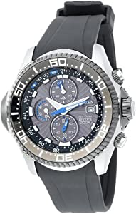 Citizen Men's BJ2115-07E Eco-Drive Depth Meter Chronograph Imperial Rubber Dive Watch