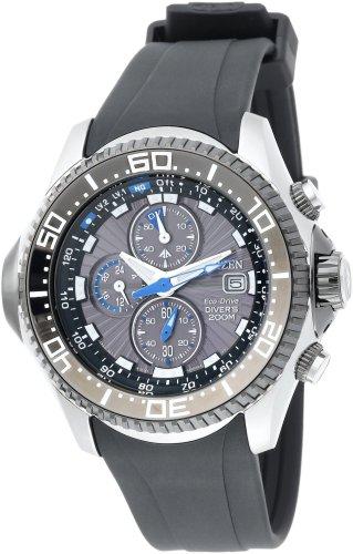 Citizen Men's BJ2115-07E Eco-Drive Depth Meter Chronograph Imperial Rubber Dive Watch