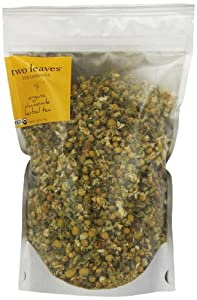 Two Leaves and a Bud Organic Chamomile Herbal Tea, Full Leaf Tea, 0.25 Pound Resealable Pouch