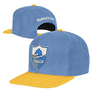 NFL Mitchell & Ness San Diego Chargers Throwback XL Logo 2T Snapback Hat - Powder Blue/Gold