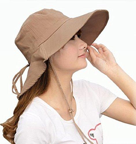 後ろ リボン が可愛い 紫外線防止 つば広タイプ UVカット帽子 あご紐 取り外し可能 レディースハット 婦人帽 (オフホワイト ベージュ ブラック ) (ベージュ)