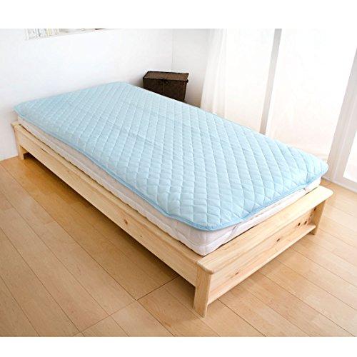 ラ・クール ひんやり敷きパッド シングル(100×200cm) 国内検査済み 低ホル 接触冷感 ブルー 61140224 01