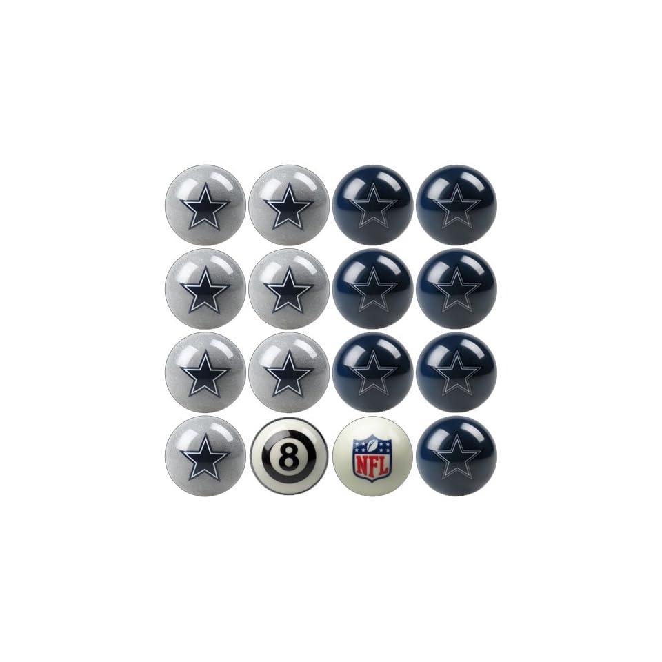 IFS   Dallas Cowboys NFL 8 Ball Billiard Set   Billiard Ball Racks