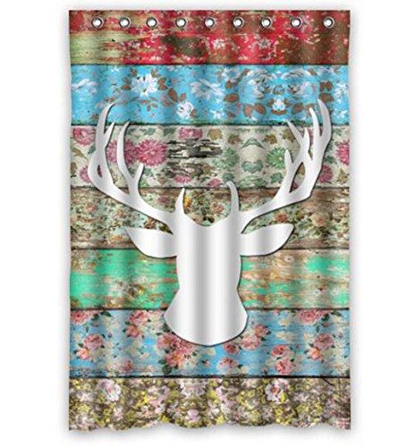 Singing bathroom Custom Home Decor Deer Head Moden Shower Curtain Bathroom Waterproof 66