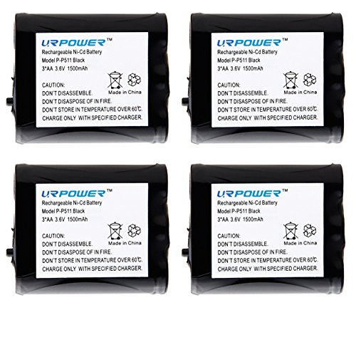 URPOWER® Pack of 4 Rechargeable Cordless Phone Batteries for Panasonic P-P511 ER-P511 HHR-P402 Type 24 Cordless Telephone Battery Replacement Packs (Panasonic Hhr P402 compare prices)