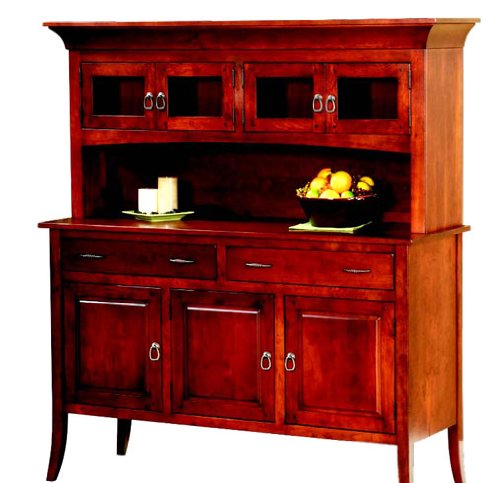 Buy Low Price Amish Furniture House Amish USA Made Georgetown Buffet w/Hutch – TW-9011-9010 (B003YD15F4)