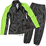 Joe Rocket RS-2 Women's 2-Piece Street Motorcycle Rain Suits - Black/Hi-Viz / Small