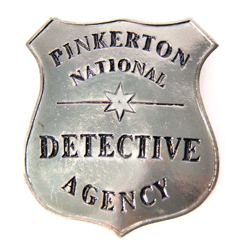 HMS Pinkerton Detective Badge Metal-Pin Back - 1