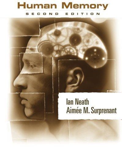 Human Memory by Ian Neath (2002-12-03)