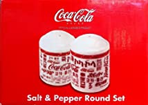 Coca Cola Salt & Pepper Round Set Fine Porcelain