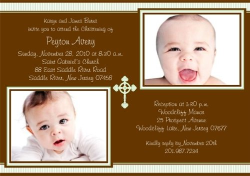 Baptism Invitations Photo front-270995
