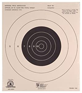Hoppe's No. 9 Official Competition 50-Feet International Rapid Fire Pistol Target Paper (20 Pack)