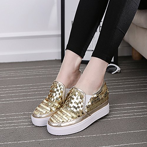 GGH Signore lavoro confortevole slittamento sui fannulloni delle donne scarpe casual Gold,37