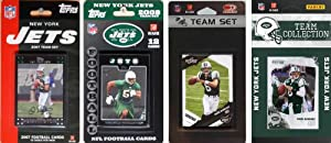 NFL New York Jets 4 Different Licensed Trading Card Team Sets by C&I Collectables