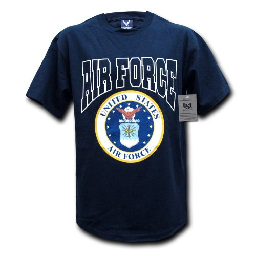 Rapiddominance Air Force Classic Military Tee, Navy, Large (Air Force Shirts For Men compare prices)