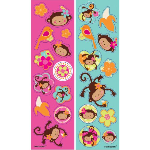 Monkey Love Sticker Sheets (8ct)