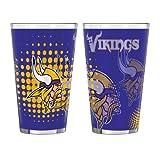 NFL Minnesota Vikings Half Tone Pint Glass, 16-ounce, 2-Pack