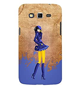 Killed Me This Paint Girl Cute Fashion 3D Hard Polycarbonate Designer Back Case Cover for Samsung Galaxy Grand I9082 :: Samsung Galaxy Grand Z I9082Z