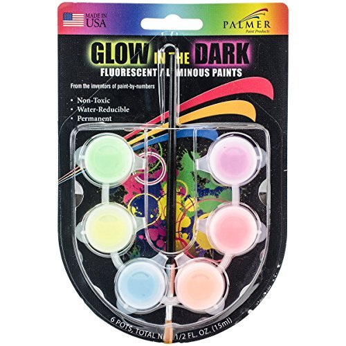Glow-In-The-Dark Paint Pots .5Oz Assorted Colors by Palmer