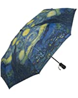 Grrl Blue Telephone Box Starry Night Fold Umbrella YS060538