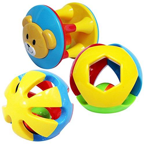 Dehang - (Set de 3)Juguetes para Arrastrar de Pelotas Bolas Sonajero con sonidos para Bebés recién nacidos Niños niñas