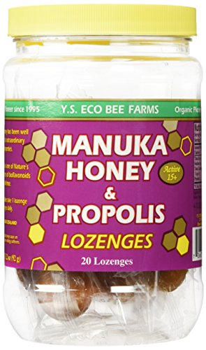 Y.S. Eco Bee Farm Manuka Honey & Propolis Active 15+ Lozenges 20 Lozenges