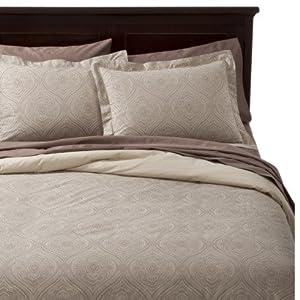 fieldcrest luxury king oversized duvet cover and shams set. Black Bedroom Furniture Sets. Home Design Ideas