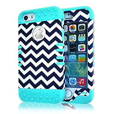 iPhone 5S Case, iPhone 5 Case Case Loca Hybrid Impact Shockproof Cover Hard Armor Shell and Soft Silicone Skin Layer With Stylus Pen (Chevron Classic) from Case Loca