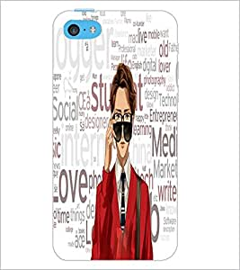 PrintDhaba Typography D-3943 Back Case Cover for APPLE IPHONE 5C (Multi-Coloured)