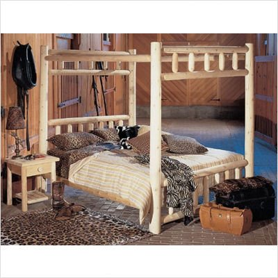 Bundle-93 Canopy Bedroom Set Bed Size: Twin