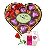 Cheerful Chocolates Collection With Love Card And Rose - Chocholik Luxury Chocolates