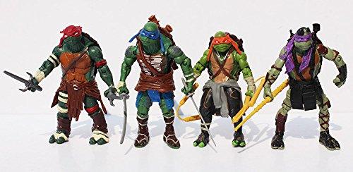 Superb good, ninja turtle action figures,TMNT Teenage Mutant Ninja Turtles PVC Action Figure Toys Dolls (4pcs/set) 12cm