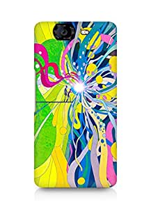 Amez designer printed 3d premium high quality back case cover for Micromax Canvas Knight A350 (Abstract Colorful 7)