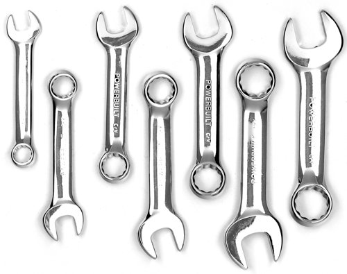 Images for Powerbuilt 640203 SAE Stubby Combination Wrench Set, 7-Piece