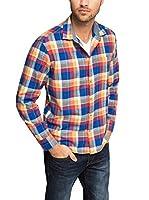 Esprit Camisa Casual (Naranja / Azul)
