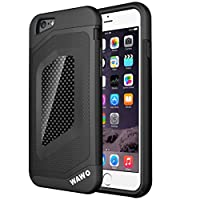 "iphone 6 Case - WAWO Sport Luxury Fashion [ Carbon Fiber Trim ] TPU + PC Double Protection Shell for Apple iphone 6 4.7"" -Black from iphone 6 case"