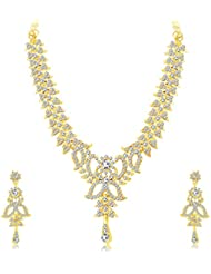 Sukkhi Youthful Gold Plated AD Necklace Set For Women