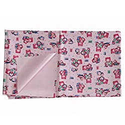 Aarushi Rubber Waterproof Baby Sleeping Sheet Pink