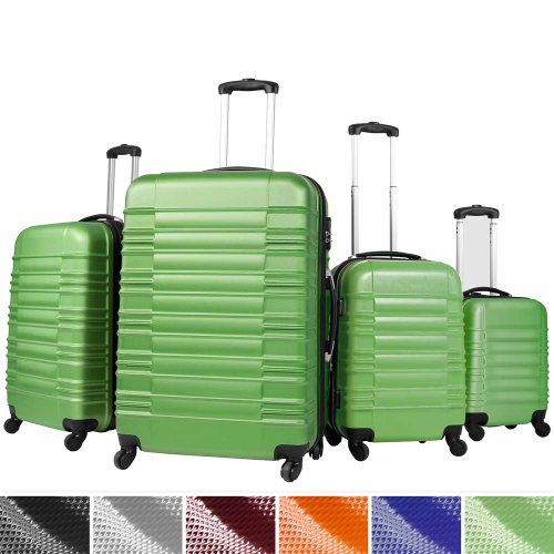Vojagor-Set-of-4-Hard-Shell-Trolley-Suitcases-Travel-Luggage-DIFFERENT-COLOURS