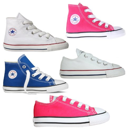 New Babies Toddlers Infants Kids Converse All Star High Hi Tops And Lo Pumps Chuck Taylor Dance Fashion Lace Up Canvas Trainers Uk Sizes 2 3 4 5 6 7 8 9 10