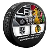 2013 NHL Stanley Cup Playoffs Western Conference Finals Los Angeles Kings vs Chicago Blackhawks Dueling Souvenir Puck