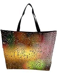 Snoogg Colorful Water Drops Designer Waterproof Bag Made Of High Strength Nylon - B01I1KMQ5C