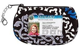 Vera Bradley Clip Zip ID in Canterberry Cobalt
