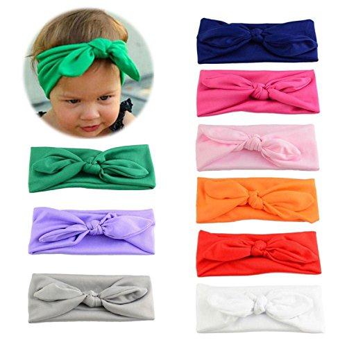 Itaar 9 Pezzi di Fascia Capelli Bimba di Bowknot Elastica Colori Diversi Fai da Te Regali per Neonate Bambine
