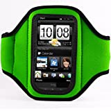 Vangoddy Green Neoprene Workout Exercise Armband fits Smartphone Mobile Phones Samsung Blackberry HTC LG Nokia (12.4 x 7 x 0.6 cm, ArmLength 29.8 cm)