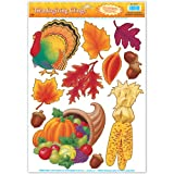 Thanksgiving Clings Party Accessory (1 count) (11 Sh)