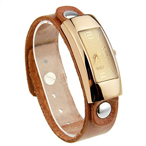 Bamoer Watches Big Promotion (Buy One Watch Get One Free Totally 2)!! Unisex Leather Watchband Quartz Wristwatches