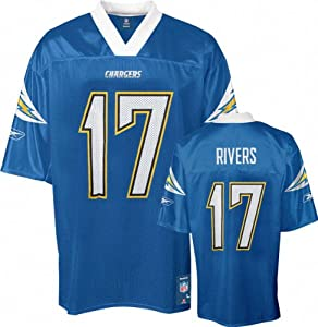 Reebok San Diego Chargers Philip Rivers Jersey X-Large Powder Blue NFL Alternate... by Reebok