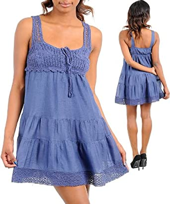 BABYDOLL CROCHET DRESS: Clothing